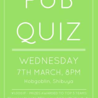 March Pub Quiz for TELL