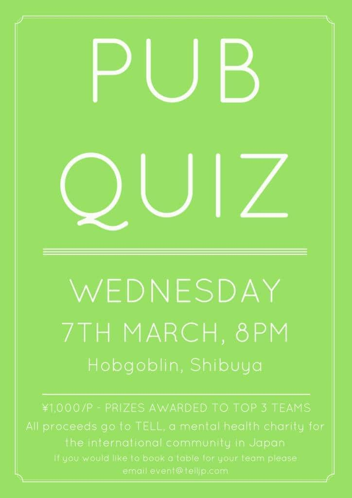 Pub Quiz for TELL