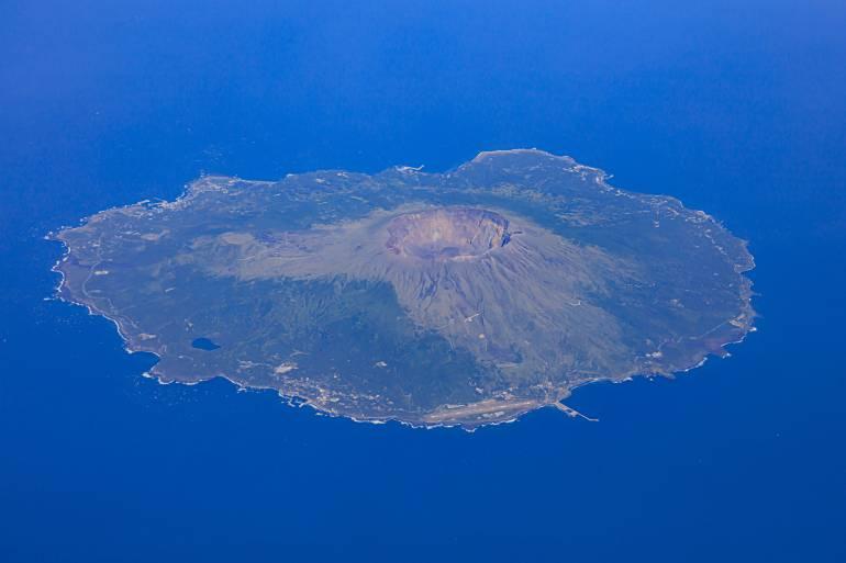 Miyake Island aerial view