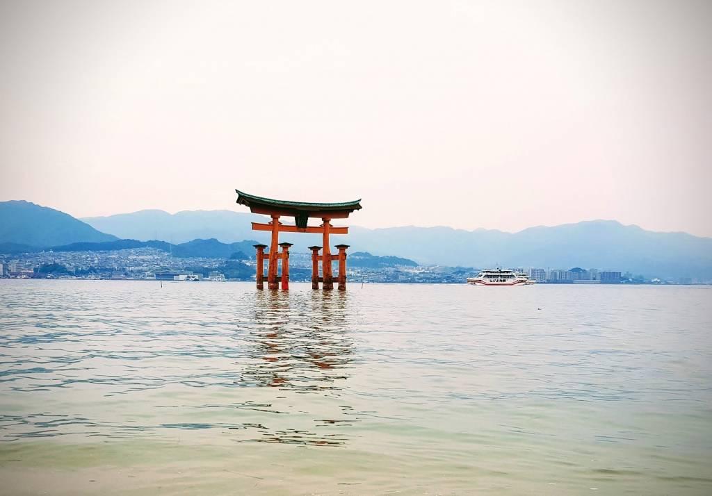 Utsukushima Shrine Torii Miyajima Hiroshima