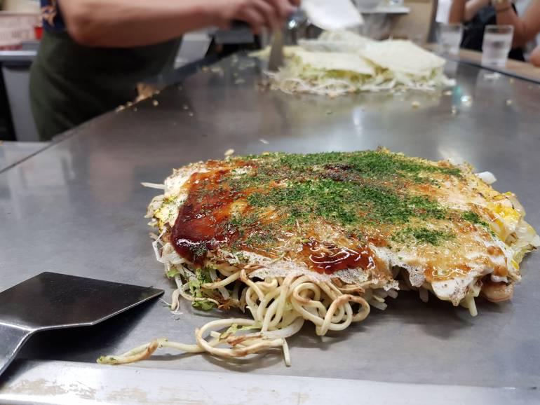 Okonomiyaki at Hiroshima Okonomiyaki Mura