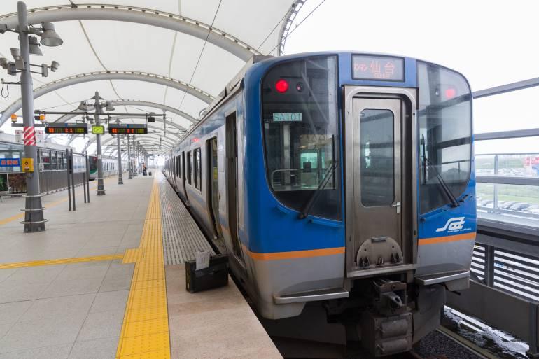 train that goes from Sendai Airport to Sendai City