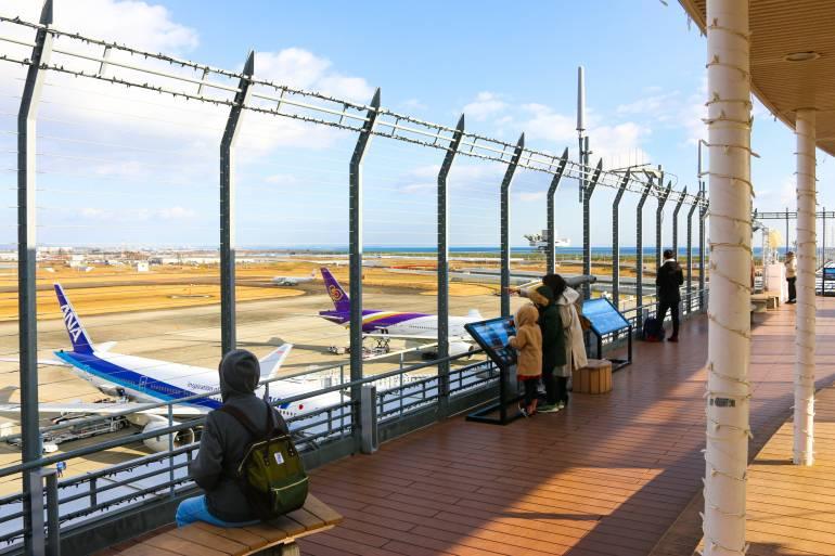 Observation deck at the Sendai International Airport
