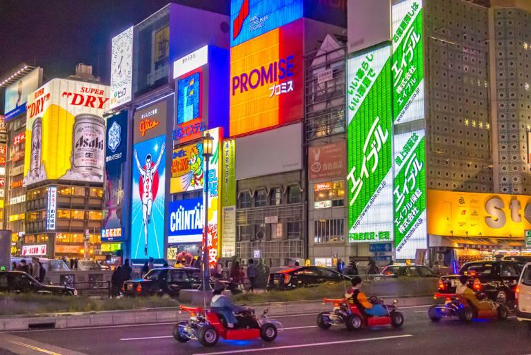 mario kart in tokyo and osaka
