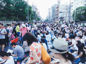 Sumidagawa Fireworks Crowds