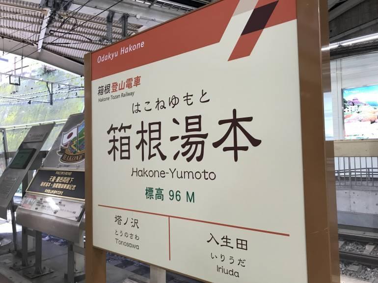 hakone-yumoto station signboard
