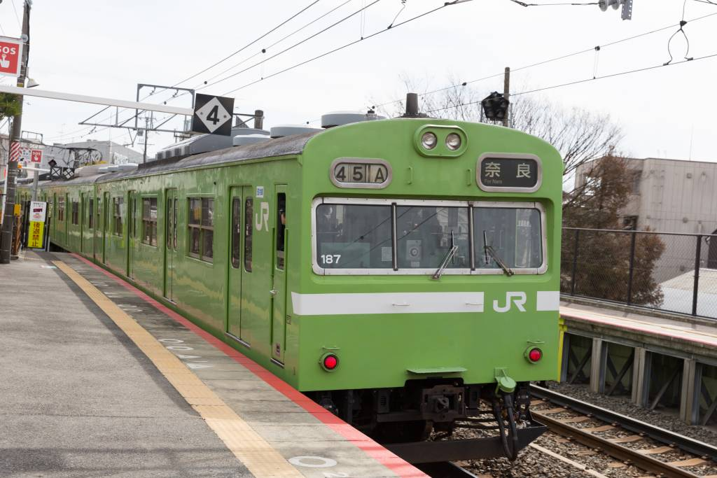 JR West Nara Line train at Kyoto Station