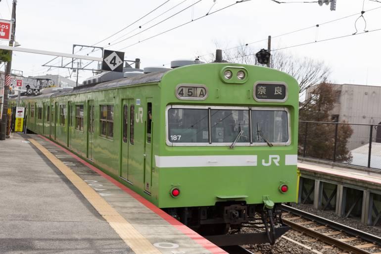 JR West Nara Line train at Kyoto Station