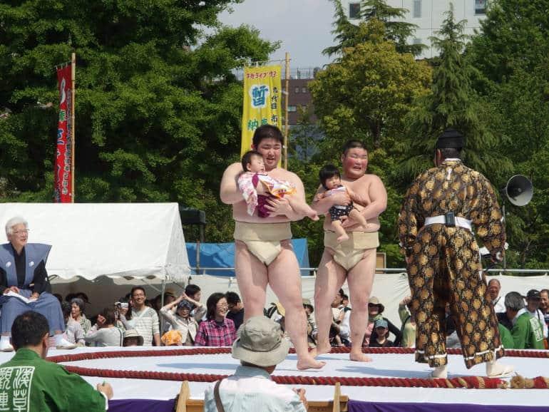 Naki Zumo Crying baby Festival weird tokyo
