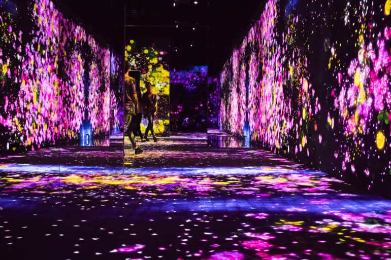 Mori building digital art museum - teamlab borderless