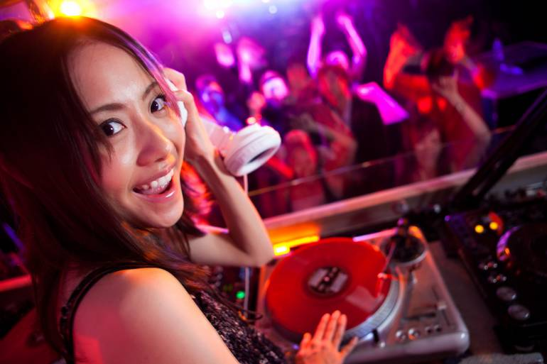 A Nightclub with people in Tokyo meeting for hook ups and sex