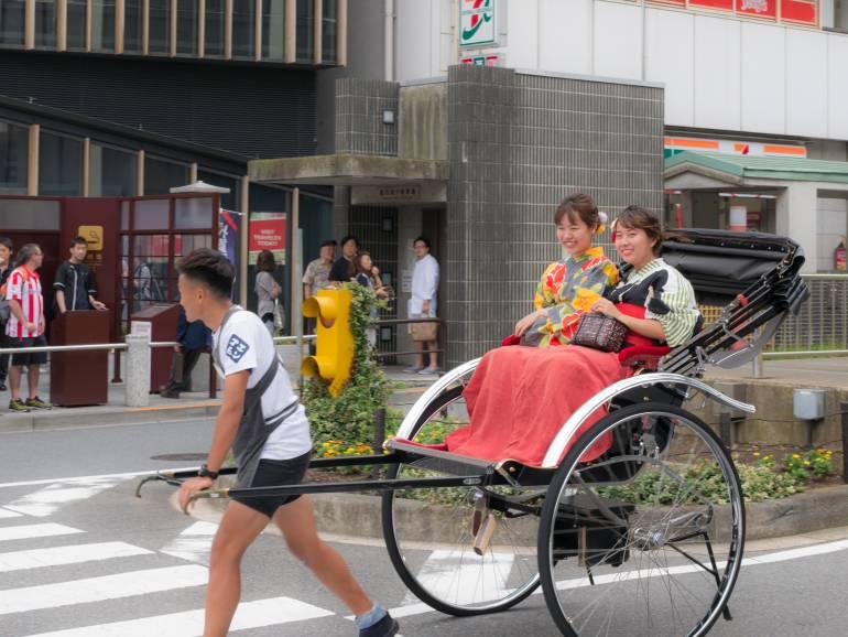 Rickshaw with passengers Asakusa