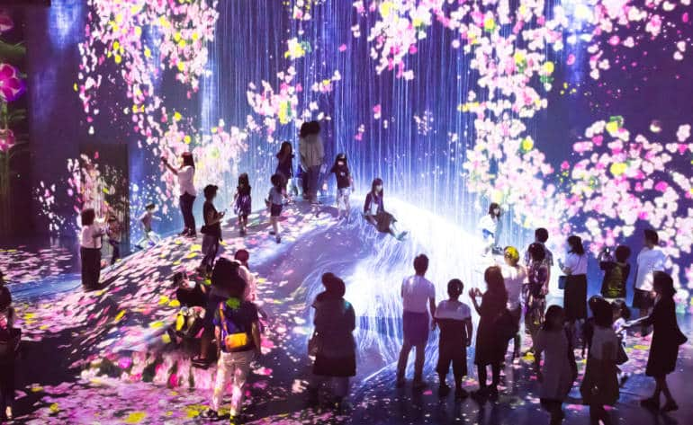 mori building digital art museum - teamLab Borderless - Flower Forest