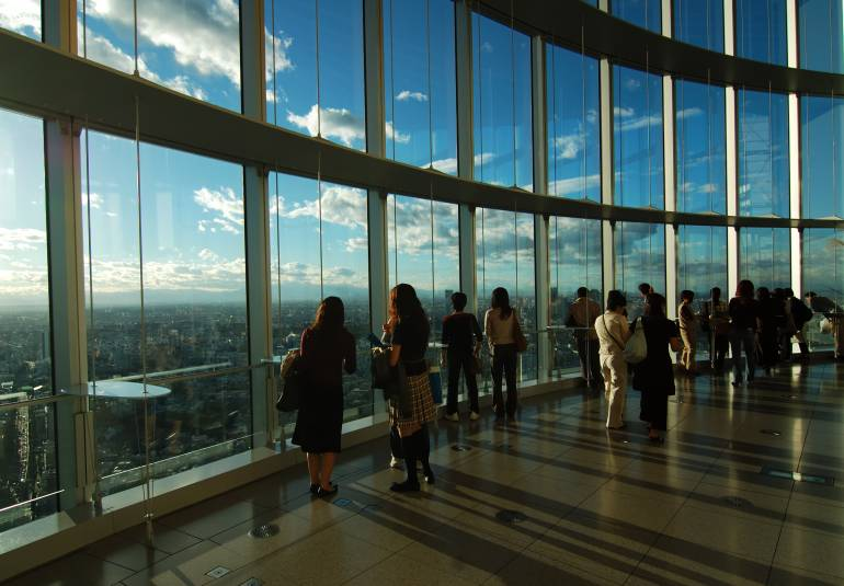 Observation deck at Roppongi Hills
