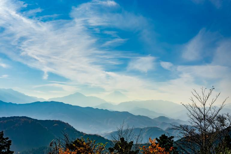 View of Fuji from Mt.Takao