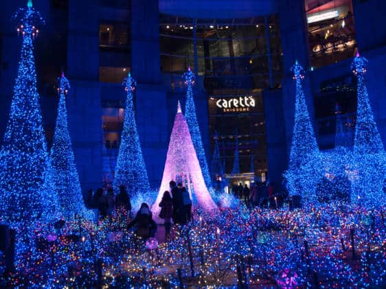 caretta shiodome winter illuminations