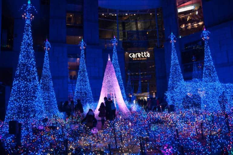 caretta shiodome winter illuminations