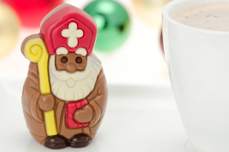Chocolate Christian santa