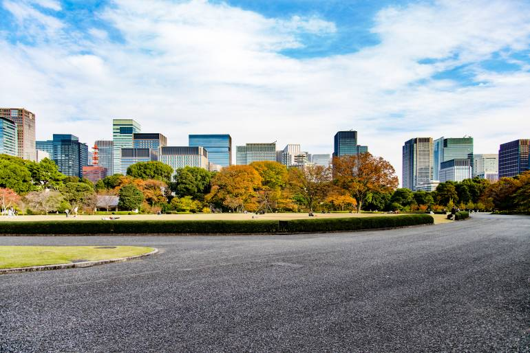 Imperial Palace East Gardens in autumn