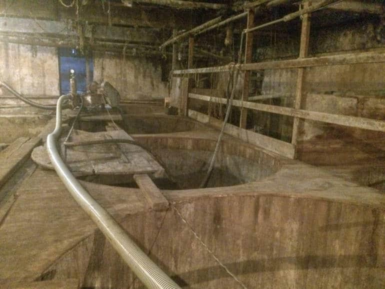 vats at the meijiya soy sauce factory hamamatsu