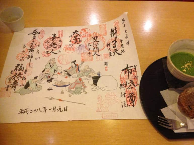 7 Lucky Gods - Yanaka Scroll - Photo by Tiffany