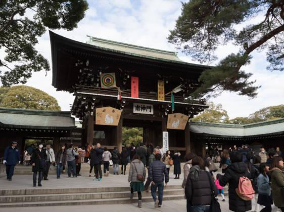 Meiji Jingu Shrine Tokyo Hatsumode New Year Visit