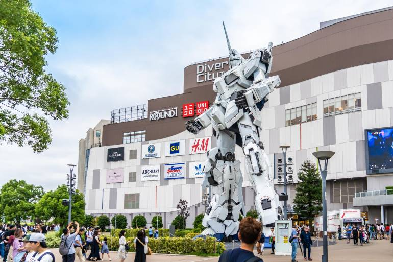 Unicorn Gundam at  Diver City