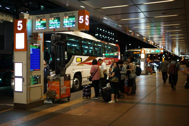 haneda airport limousine bus stop