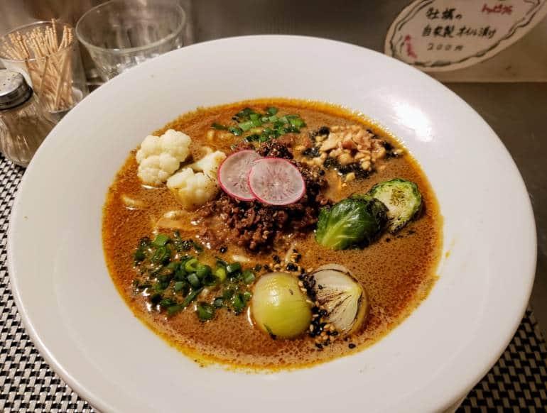 Vegan Ramen from Mensho Shinjuku