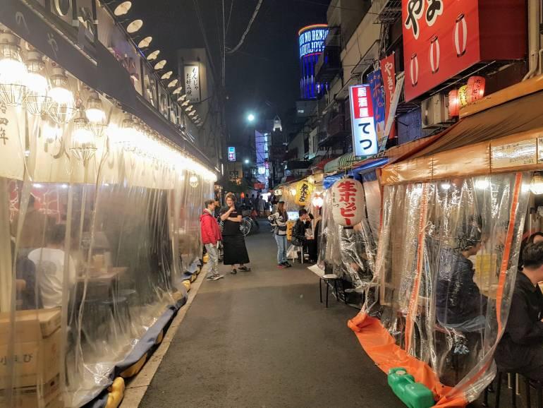 Hoppy Dori outdoor drinking Asakusa