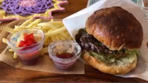 Unazuki Onsen vegan burger