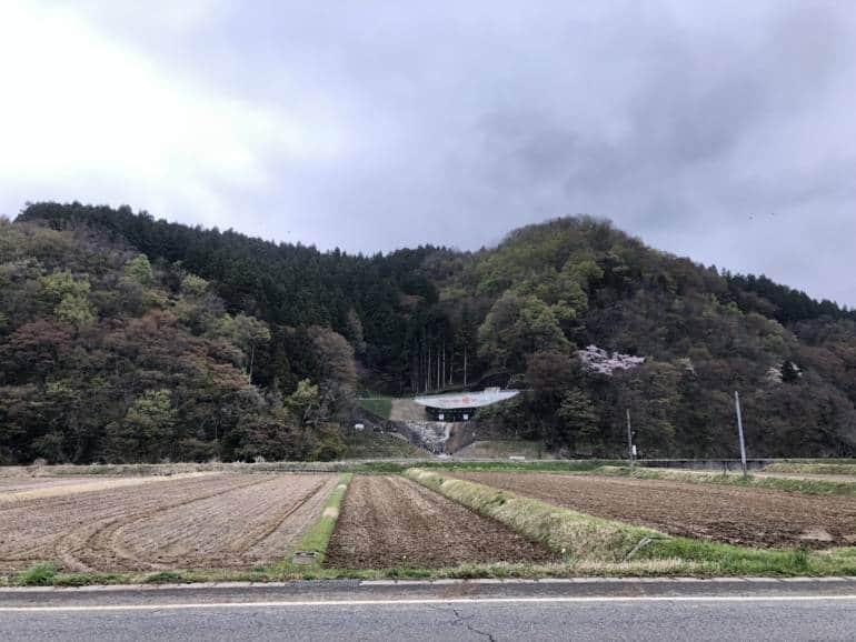 Sake brewery near Fossa Magna fields