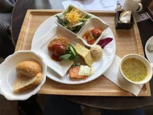 Caffe Arco Mercato Kanazawa lunch plate