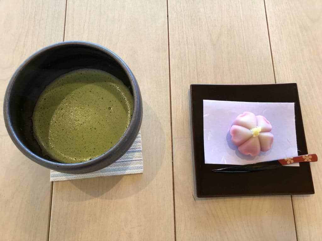 Matcha and sweet set at Kanazawa Castle