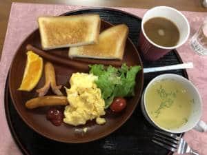 Morning breakfast set