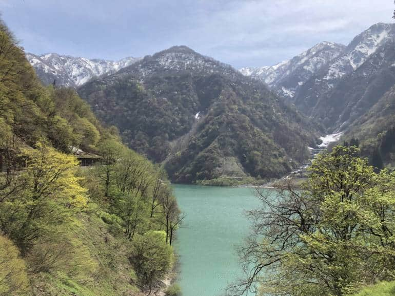 View over Kurobe Gorge from Kurobe Gorge Railway