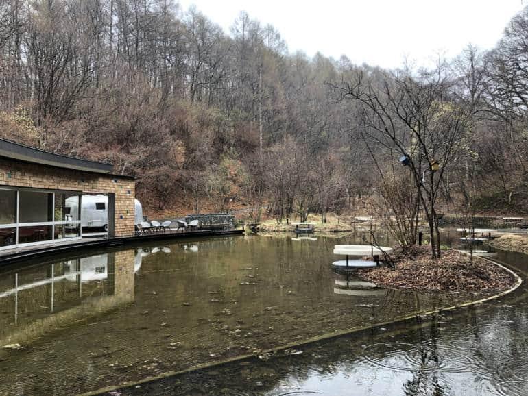 Pond in Hoshino Onsen, Karuizawa