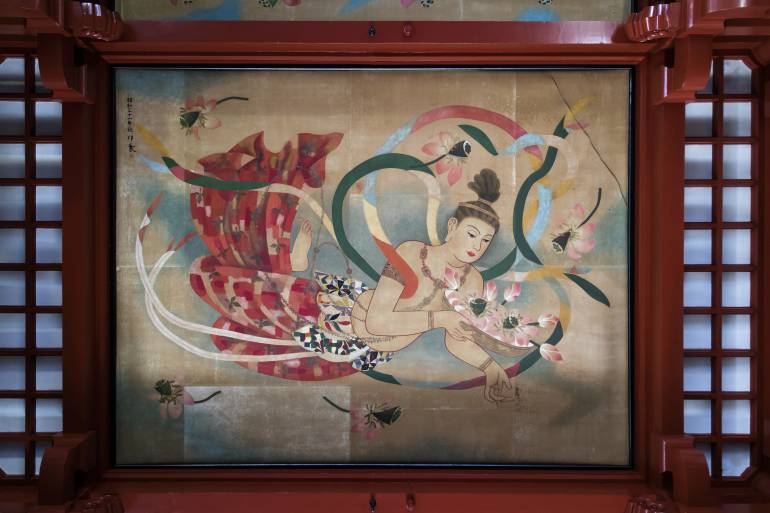 sensoji painted ceiling