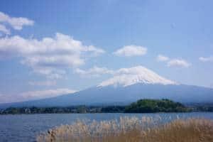 Mount Fuji view from lake