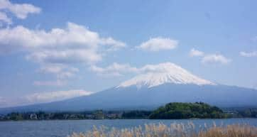 Mount Fuji view from lake
