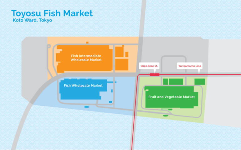 Toyosu Market Map