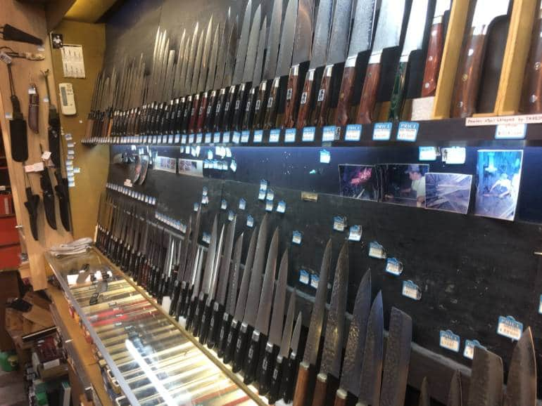 kappabashi knife shopping
