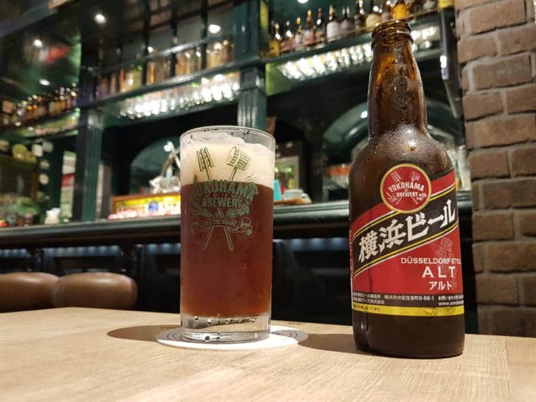A Yokohama Brewing beer at World Beer Museum