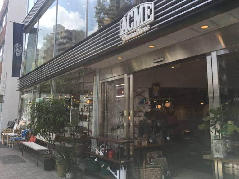Acme furniture store in Tokyo