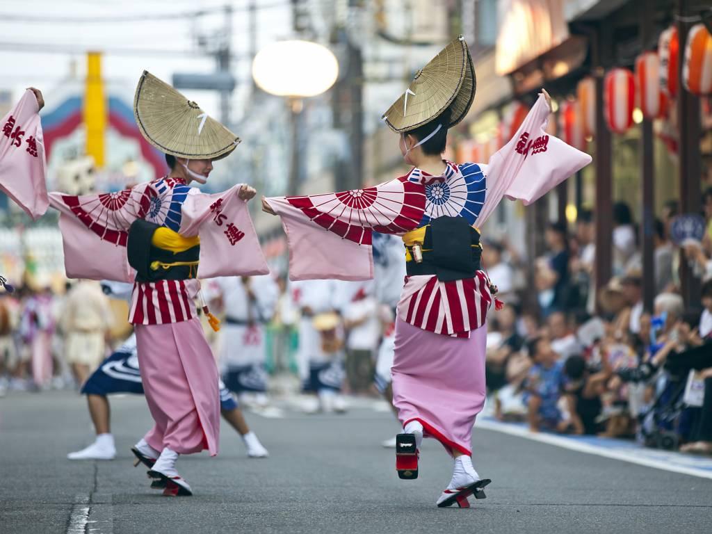 bonodori awaodori festival summer dance yukata