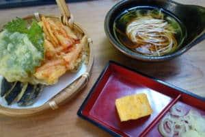 nagashi somen and tempura