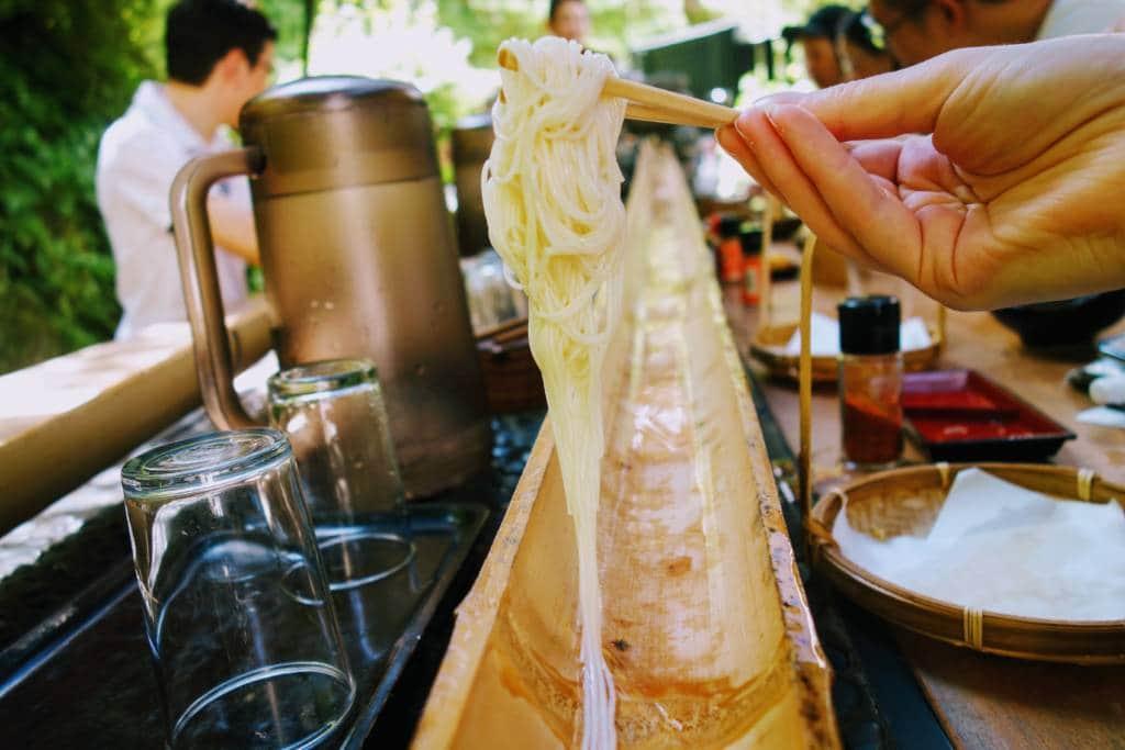 cold summer noodles in Tokyo