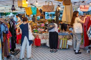 Tokyo Night Market Bag Stall