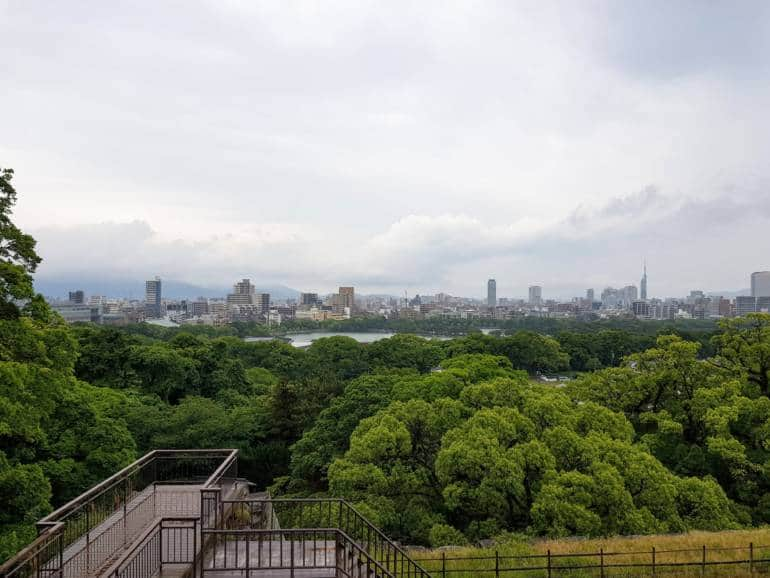 fukuoka castle sightseeing rugby world cup host cities