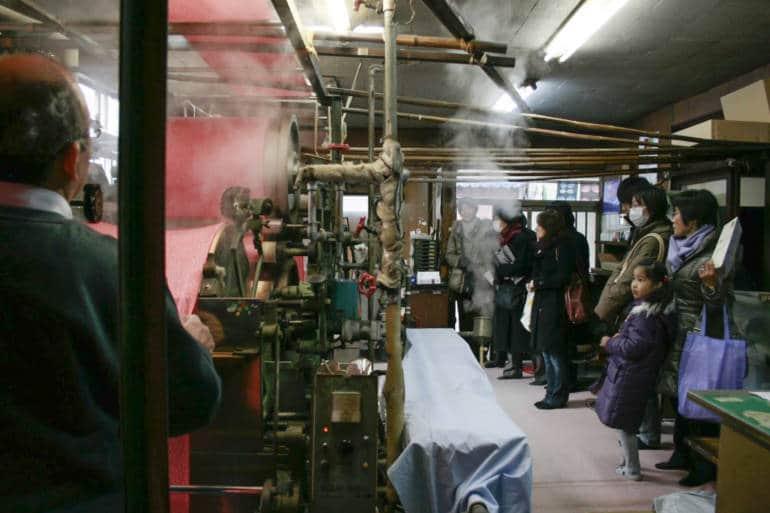 kimono dyeing machinery